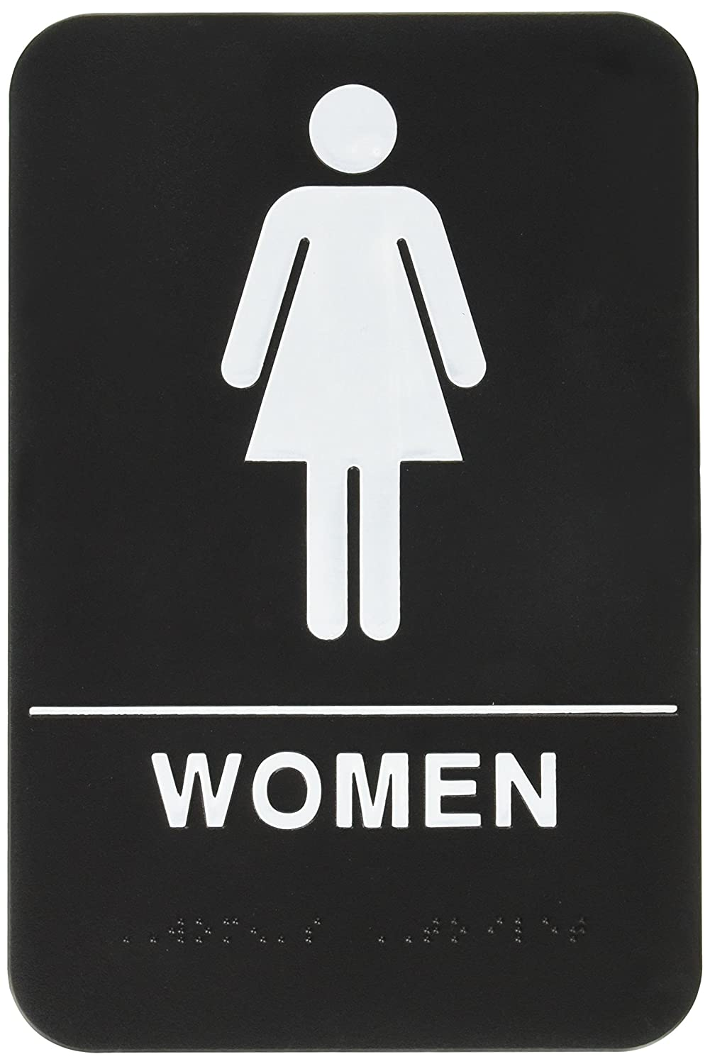 Rock ridge women restroom sign black white ada ebay for Women only bathroom sign
