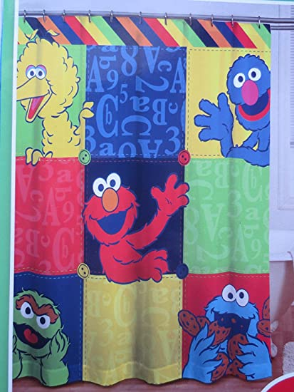 Image Unavailable Not Available For Color Sesame Street Microfiber Shower Curtain