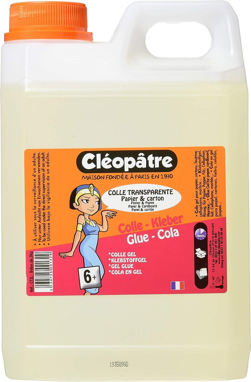 Cleopatre CT2L, Pegamento Especial para Escuelas, 2 Kg, Transparente: Amazon.es: Oficina y papelería