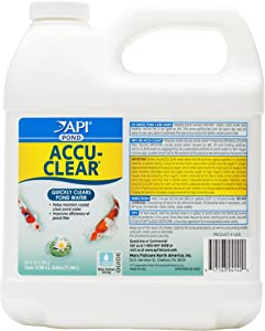 API Pond ACCU-Clear Water Clarifier, Quickly Clears and maintains Clear Water, Helps Filters Function More efficiently by clumping Tiny Suspended Particles, Use Weekly or When Water is Cloudy