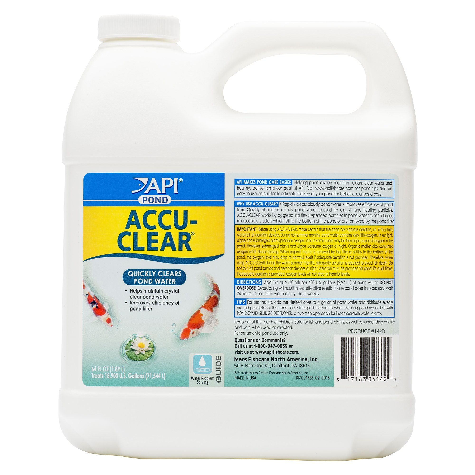API POND ACCU-CLEAR Pond Water Clarifier 64-Ounce Bottle by API