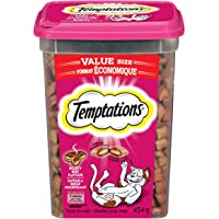 TEMPTATIONS Cat Treats, Hearty Beef Flavour, 454g Tub