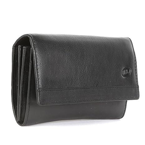 UGEL Premium auténtico Cartera de Piel para Mujer Suave, cómodo y Elegante Color Negro y