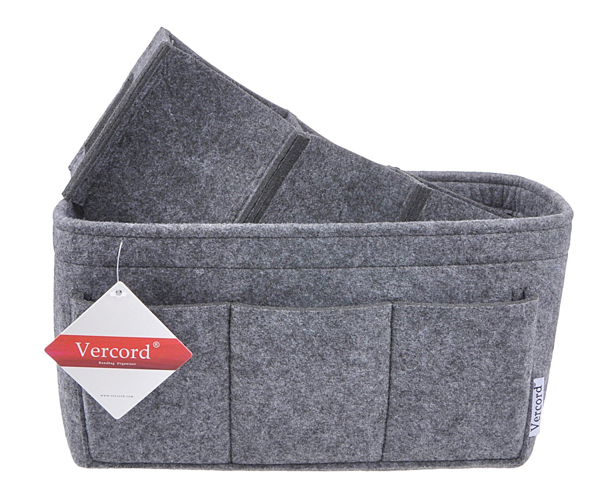 Women's Purse Organzier Sturdy Felt Handbag Liner Insert Bag Grey M