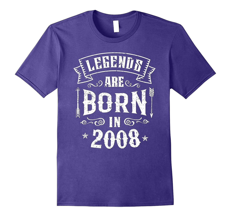 9th Birthday Gift Shirt 9 Years Old Legends 2008 T-Shirt-RT