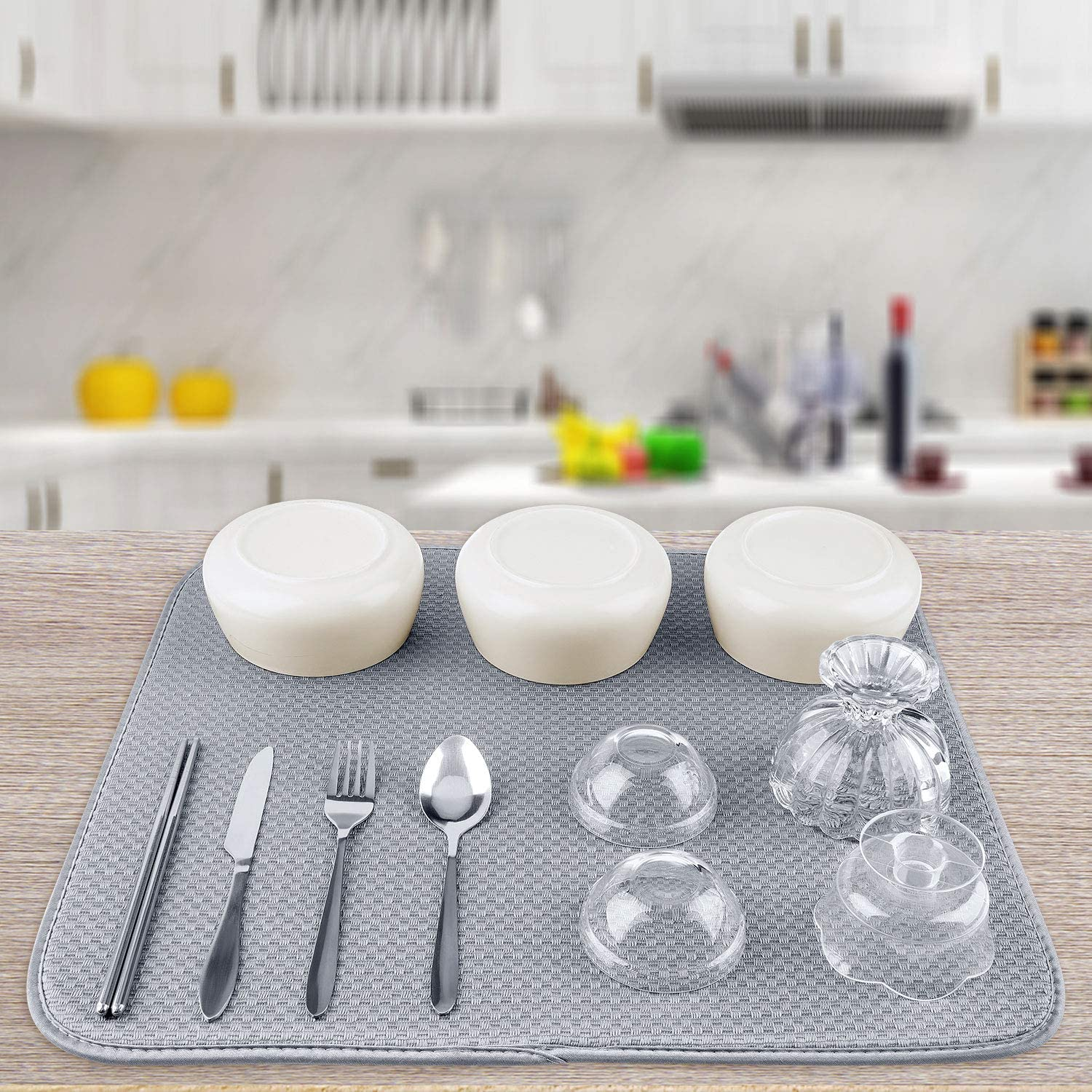 Awpeye Dish Drying Mats for Kitchen