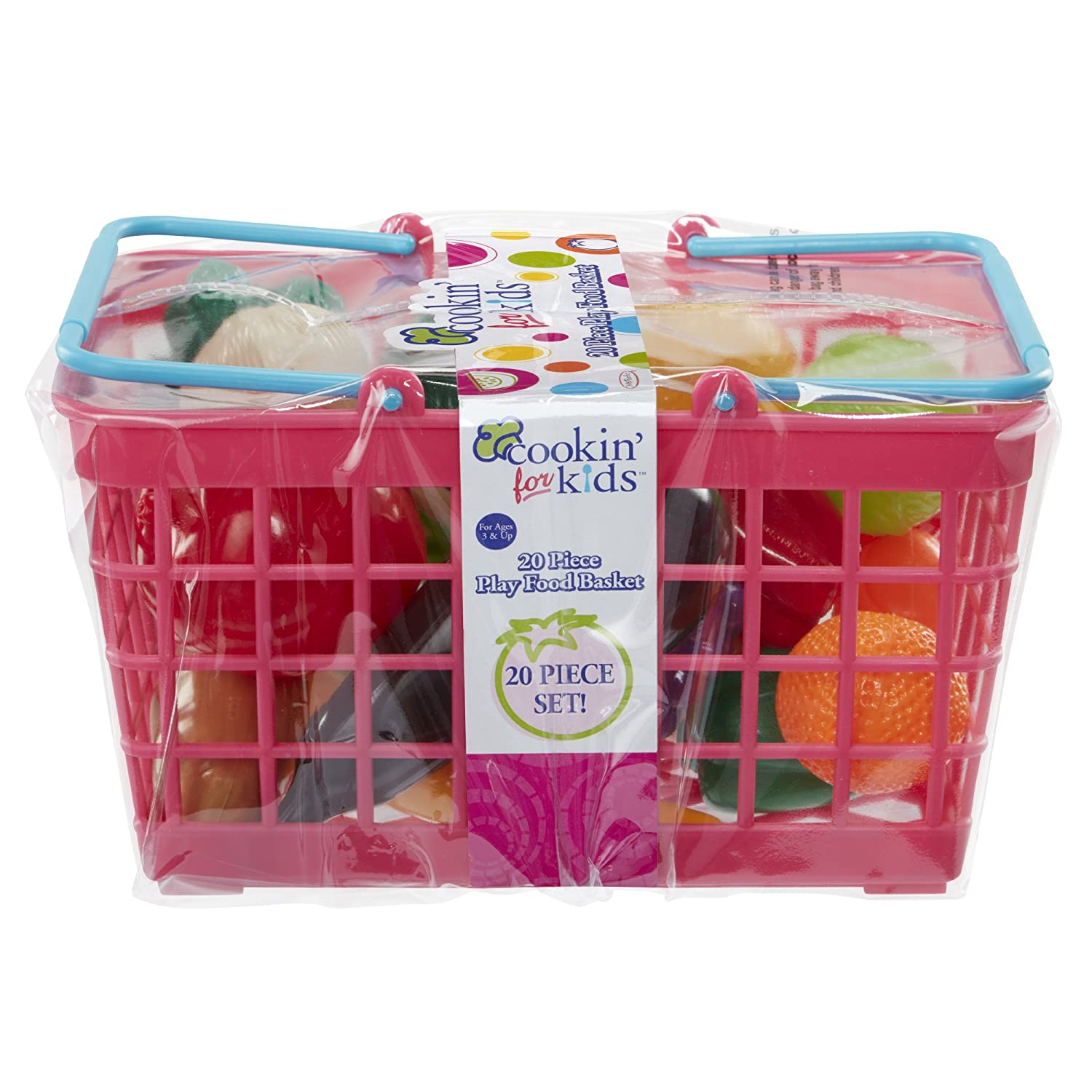 Cookin for Kids Grocery Basket, rosa by Cookin' for Kids