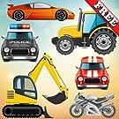 幼児や子供のための車や車:トラック、トラクターやおもちゃの車で遊ぶ!無料アプリ