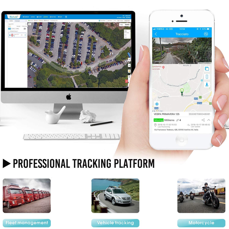 para Gesti/ón de Camiones//Taxis//Motores//Flotas. Combustible de Corte Remoto Localizador GPS,JPSTKER Impermeable Tiempo Real Anti-Robo GPS Tracker para Autom/óviles con bot/ón SOS Alertas M/últiples