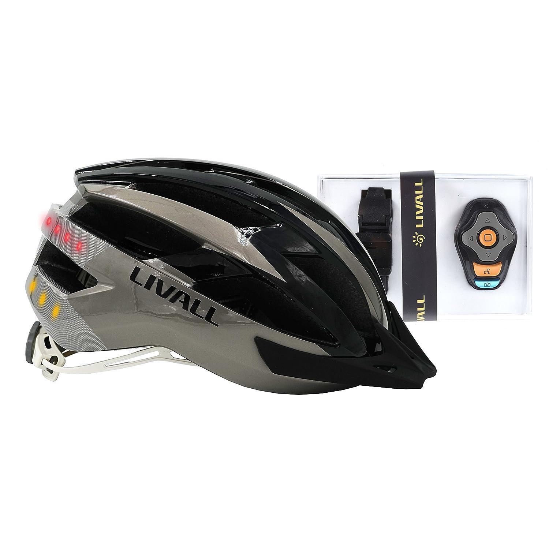 Livall MT1 Music - Casco de bicicleta, luz trasera, señal de giro, navegación y función de llamada LIVD1|#Livall