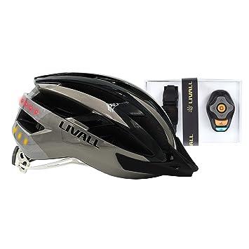 Livall MT1 Music - Casco de bicicleta, luz trasera, señal de giro, navegación