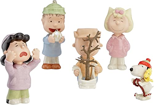 Lenox 5-Piece That s What Christmas is All About Charlie Figurine, Brown