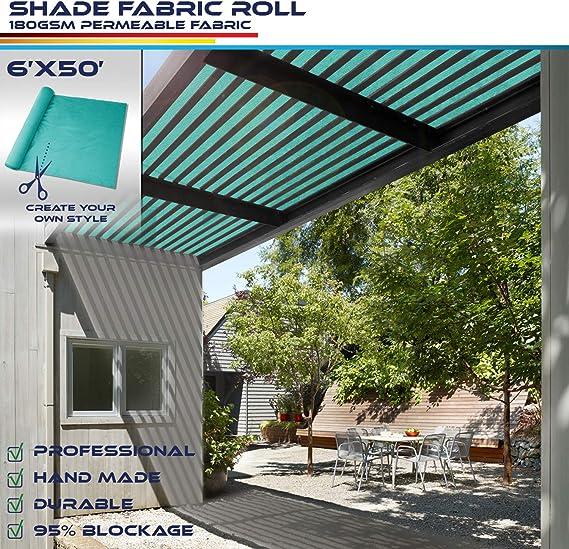 Windscreen4less - Tela de sombra con bloqueo UV del 95% - Rollo de tela de sombra de 6 pies.: Amazon.es: Jardín