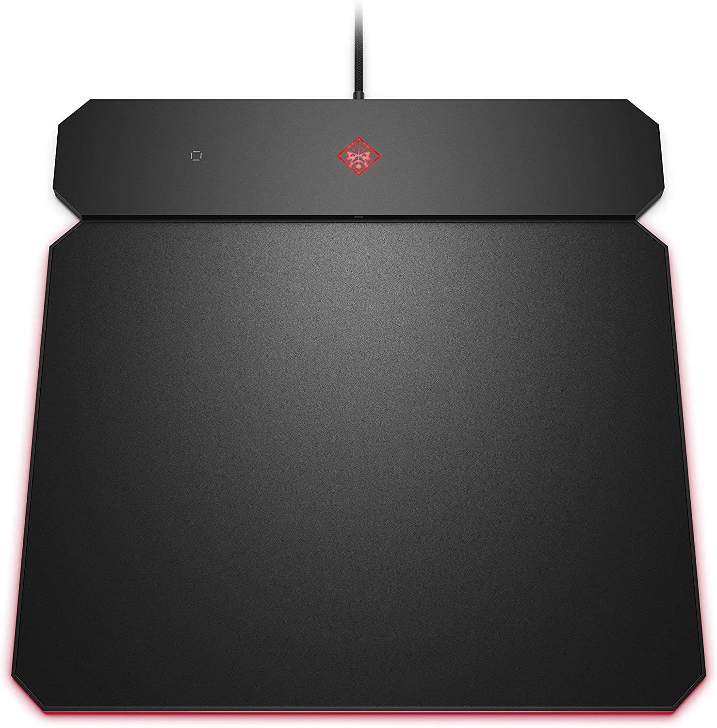 OMEN by HP Outpost Gaming Mouse Pad with Qi Wireless Charging, Custom RGB, and USB-A 2.0 Port, (6CM14AA), Black (6CM14AA#ABL)