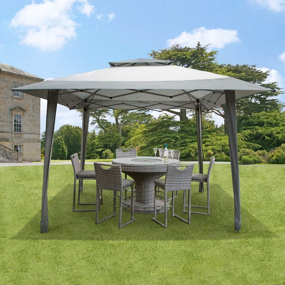 4 X 4 Metre Pop Up GSD - Cenador de 4 m x 4 m con Bolsa de Transporte en Ruedas y ventilación de Techo, Color Gris: Amazon.es: Jardín