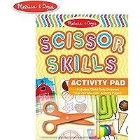 Melissa & Doug Libro de actividades de habilidades de tijera, set de juego de animales y personas, se incluye tijeras de seguridad para niños, 20 páginas, 28.575 cm alto x 20.955 cm ancho x 1.27 cm largo