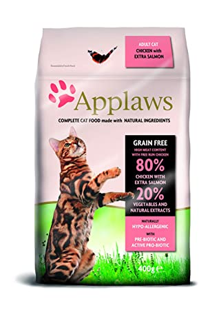 Applaws Comida seca para gatos, pollo y salmón extra/adulto, 7.5 kg: Amazon.es: Productos para mascotas