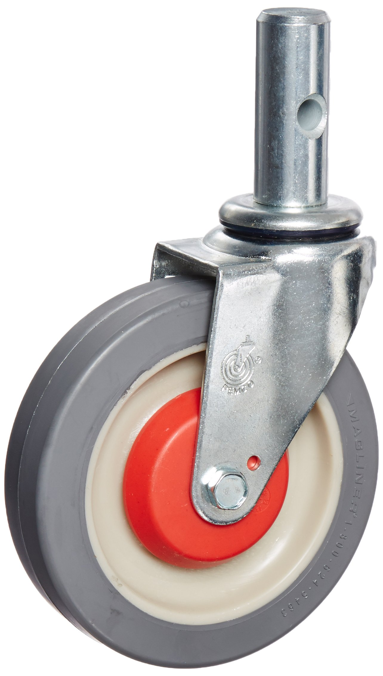 Magliner 131020 5'' x 1-1/4'' Polyurethane Replacement Swivel Caster for Gemini Convertible Hand Trucks, 10'' Length, 4'' Height, 7'' Width