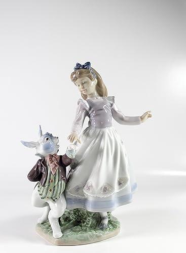 Lladro Alice in Wonderland Collectible Figurine 05740 Retired Glazed Finish
