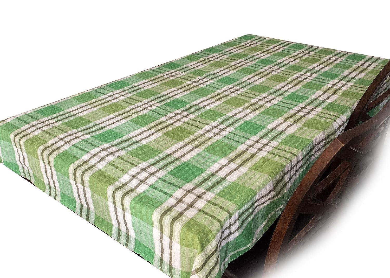 90cm x 90cm, Blue Snugglemore Seersucker 100% Cotton Tablecloth ...