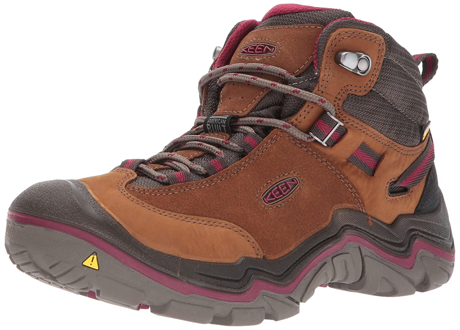 KEEN Women's Laurel Waterproof Mid Hiking Boot B01N1GRSSQ 5.5 B(M) US|Monks Robe/Rhododendron