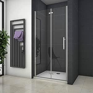 110x195cm Mamparas de ducha Pantalla baño plegable puerta de ducha Aica: Amazon.es: Bricolaje y herramientas