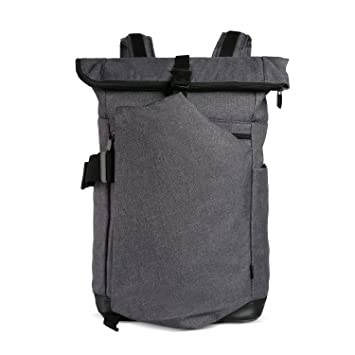 adc70a4d09 Cai 15.4'' Business Laptop-Rucksack Anti-Theft Backpack Rolltop Rucksack  Multifunctional Water Resistant Bag Satchel Laptop Backpack School Travel  ...