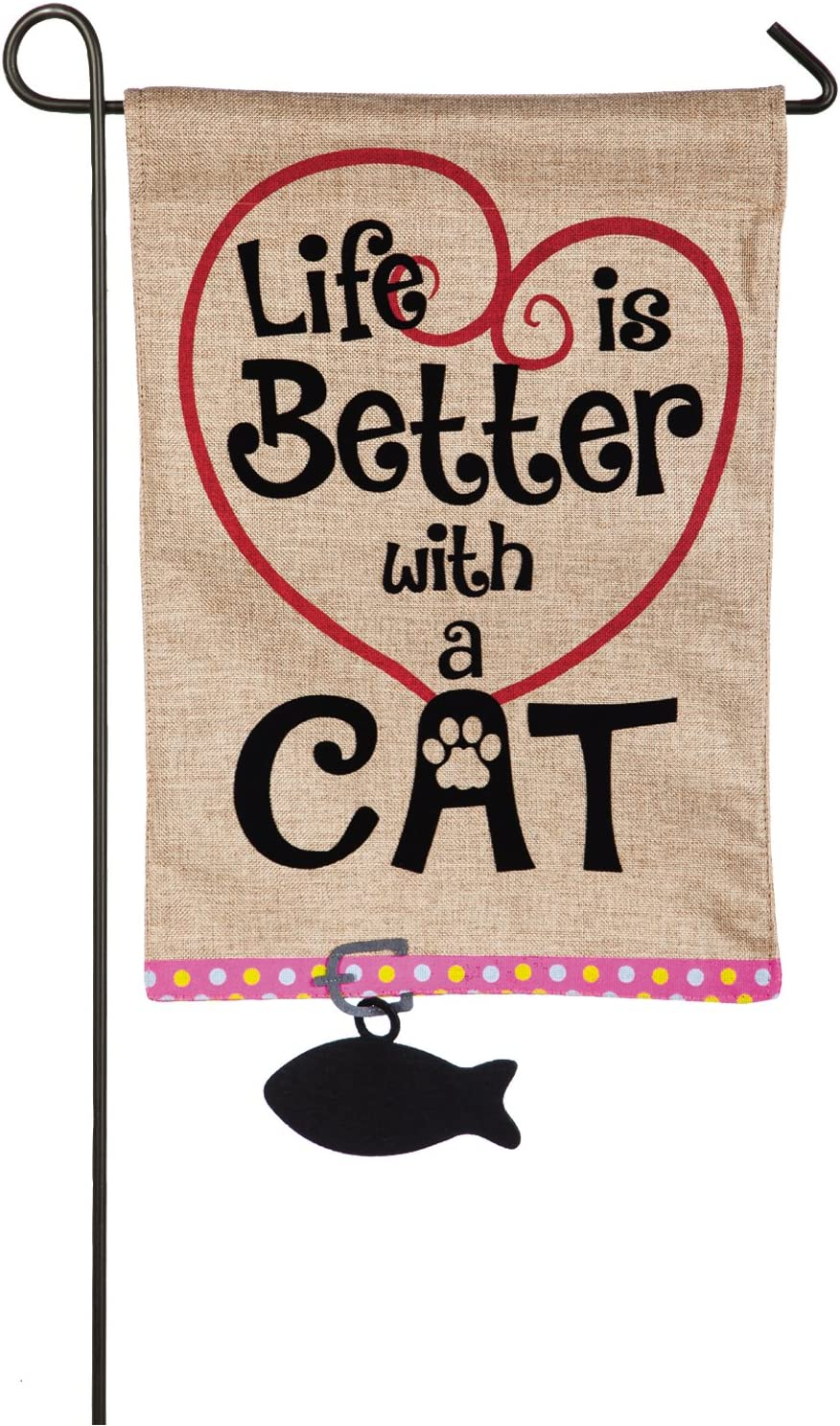 Life is Better with Cat Garden Flag