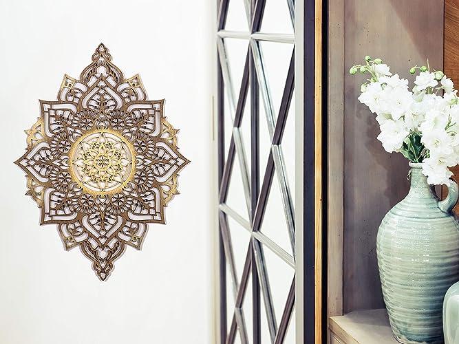 Amazon Com Mandala Home Decor Wood Wall Art Geometric Indian Wall