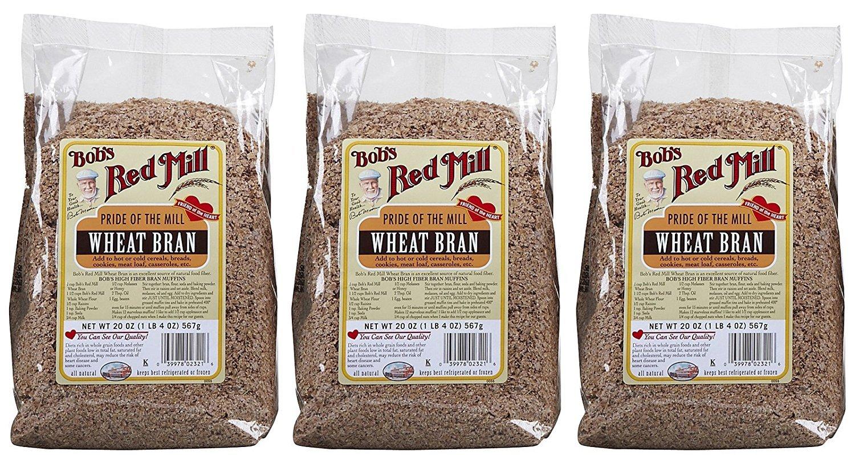 Salvado de trigo de Bob Red Mill, 20 onzas, 3 paquetes ...