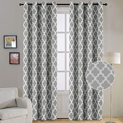 Amazon.com: Flamingo P Modern Moroccan Geometric Decor Curtains ...