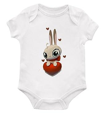 Amazon.com: Conejo conejo amor corazón bebé body traje de ...