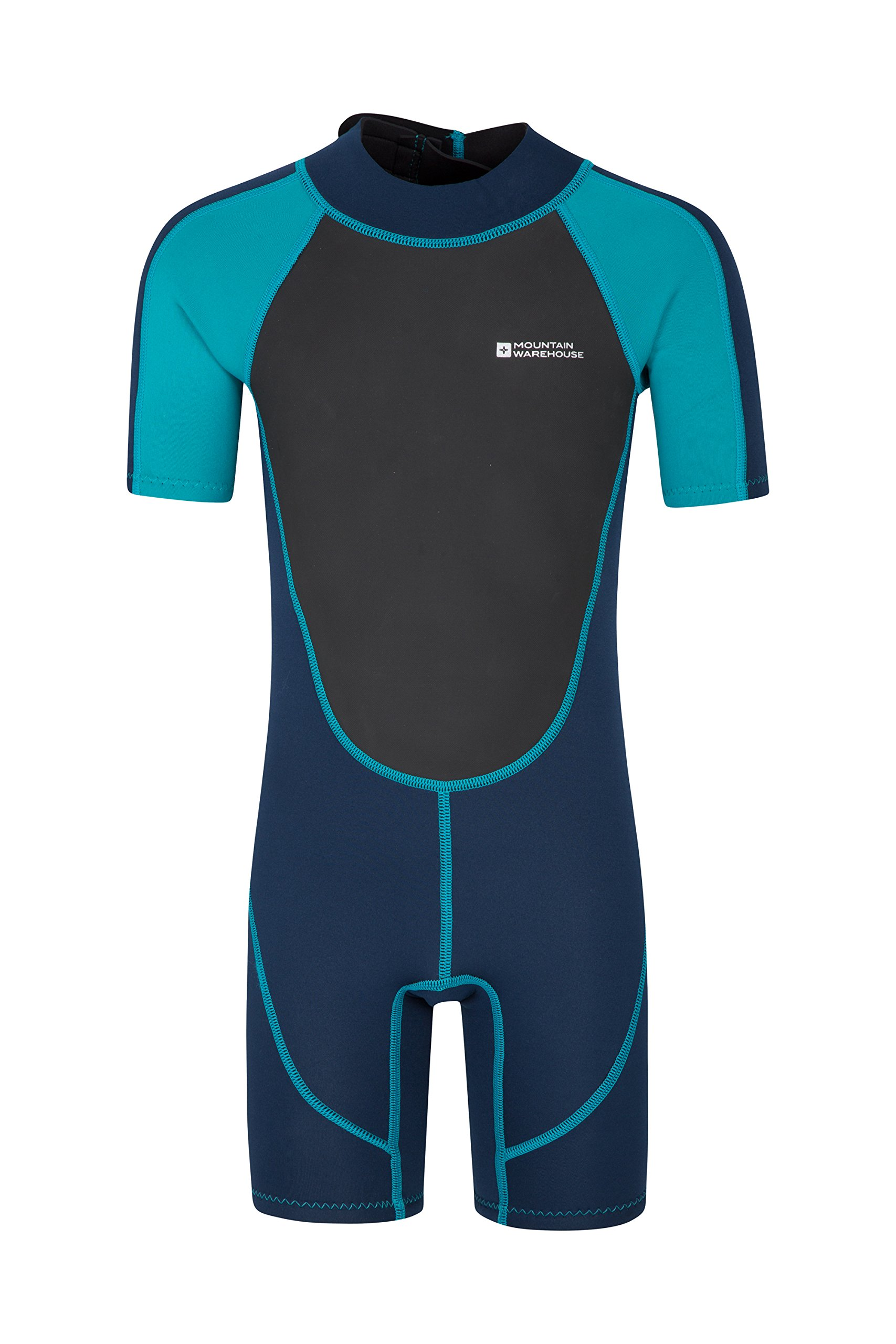 Mountain Warehouse Junior Shorty Wetsuit - Neoprene Kids Wetsuit Teal 3-4 years