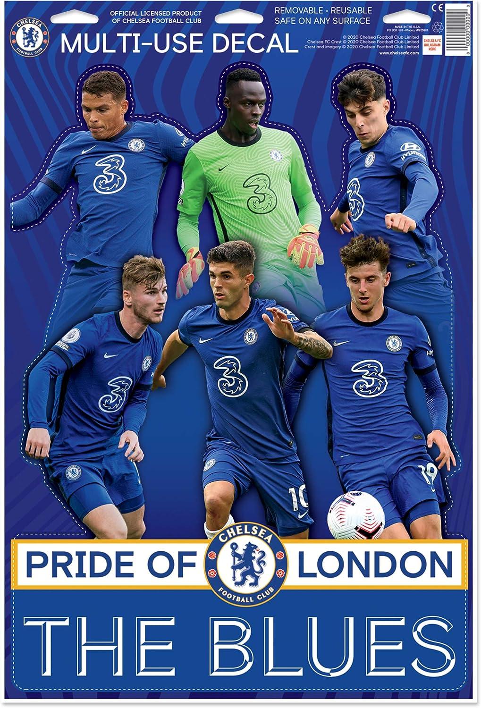 Premiership Soccer Chelsea FC Team Montage 20//21 4-teiliges Aufkleber-Set Die Poster-Alternative The Blues