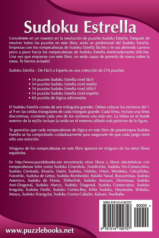 Sudoku Estrella - De Fácil a Experto - Volumen 1 - 276 Puzzles: Volume 1: Amazon.es: Snels, Nick: Libros