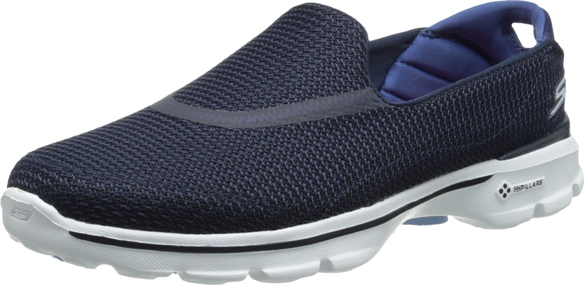 Skechers Performance Women's Go Walk 3 Slip-On Walking Shoe, Navy/White, 6 M US by Skechers