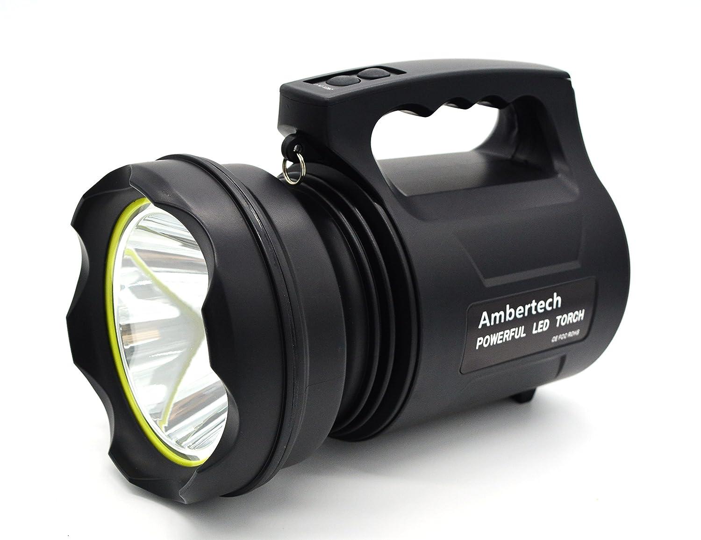 Ambertech 10000 Lumens Linterna de gran potencia Linterna LED de gran alcance Linterna recargable Super brillante Spotlight al aire libre shenzhen kemeng co.ltd