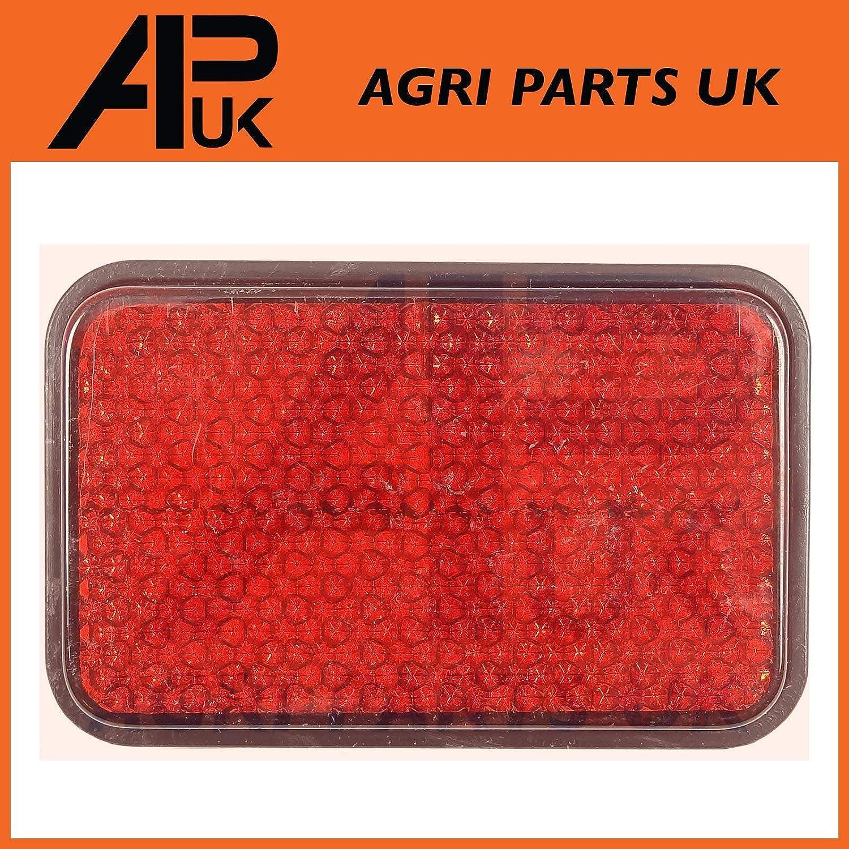 APUK Rectangle Red Reflector bolt on Lorry side Marker Boat Tractor Van ATV Trailer Agri Parts UK Ltd