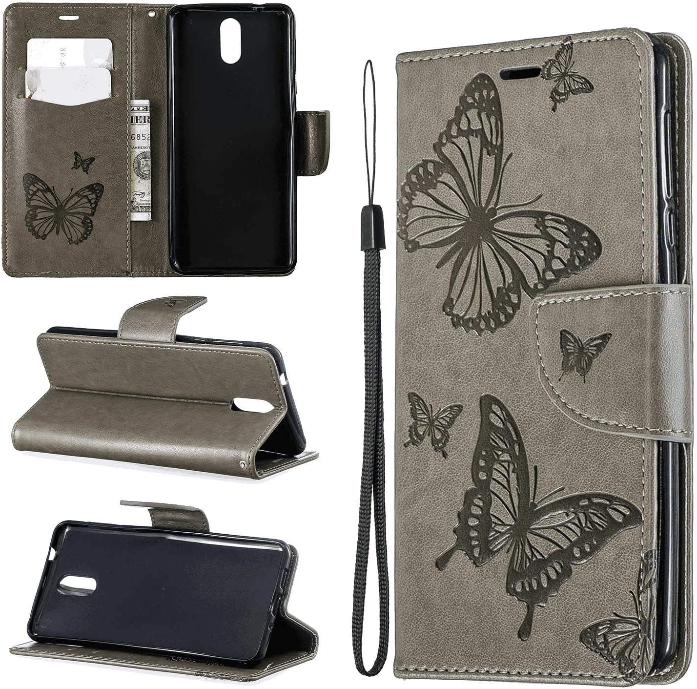 Leather Cover Business Gifts Wallet with Extra Waterproof Underwater Case Flip Case for iPhone XR