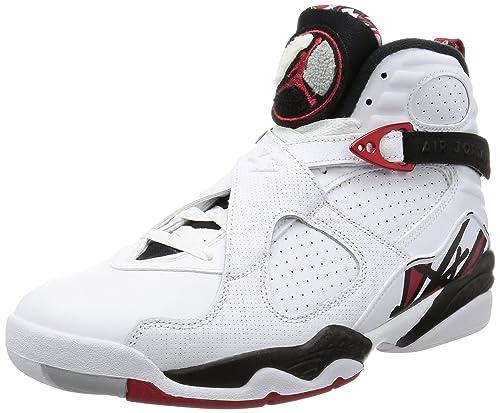 Air Jordan 8 Retro Men's Shoes White/Black/Wolf Grey/Gym Red 305381-104 (11  D(M) US)