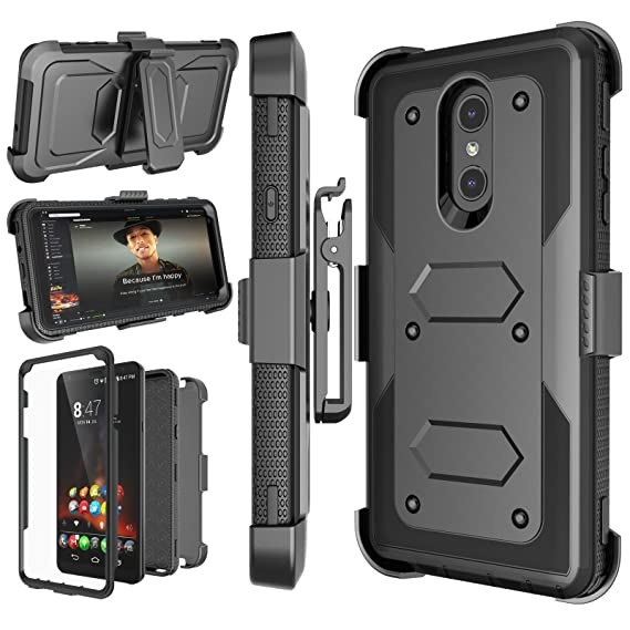 the latest 464ce 9a6dd LG Stylo 4 Case, LG Q Stylus Holster Clip, Njjex [Nbeck] Shockproof Heavy  Duty Built-in Screen Protector Rugged Locking Swivel Belt Clip Kickstand ...