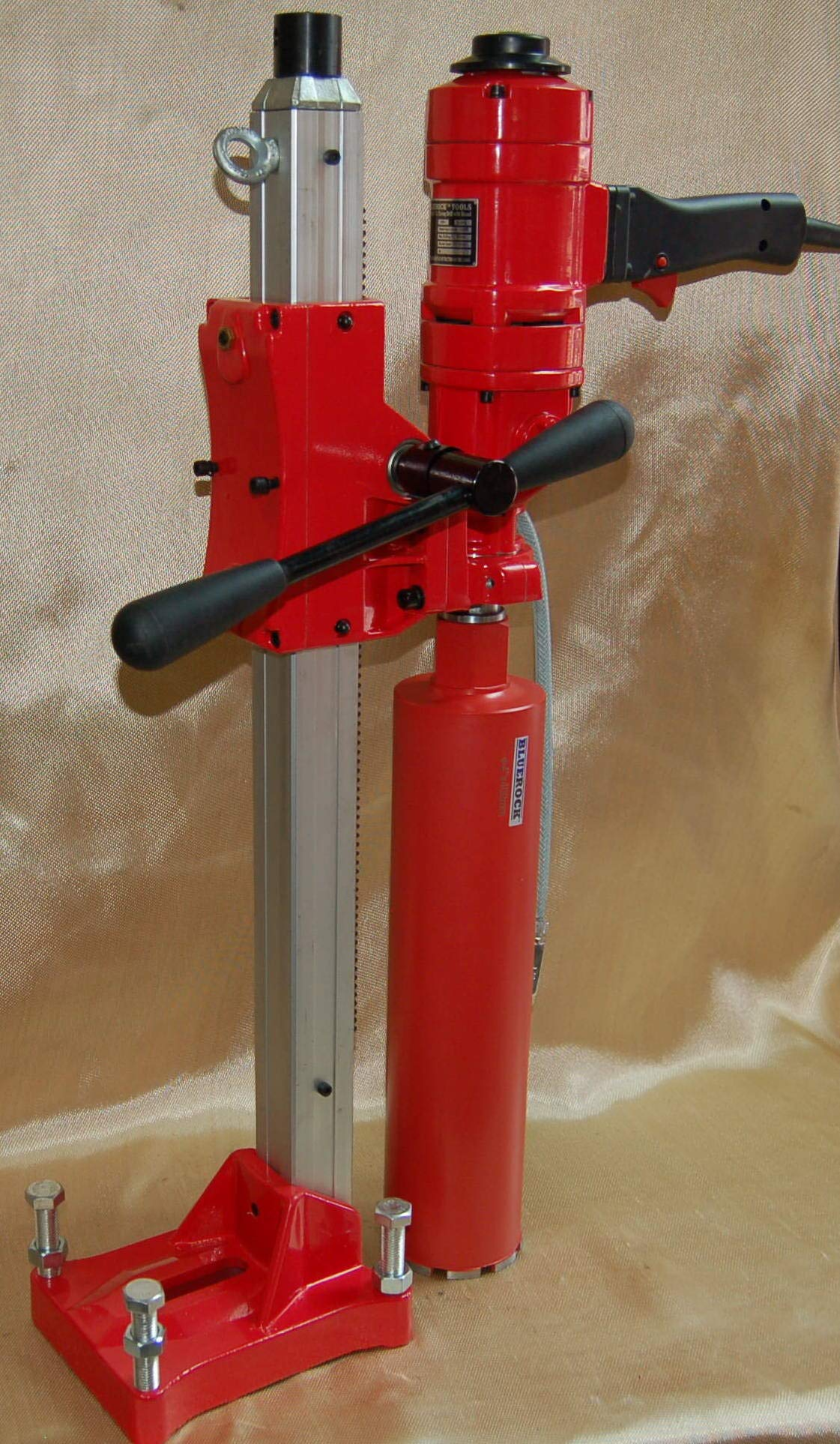 4'' Z-1WS CORE DRILL by BLUEROCK Tools 2 SPEED W/STAND CONCRETE CORING WITH: 1'',2'',3'',4'' DIAMOND WET CORE BITS