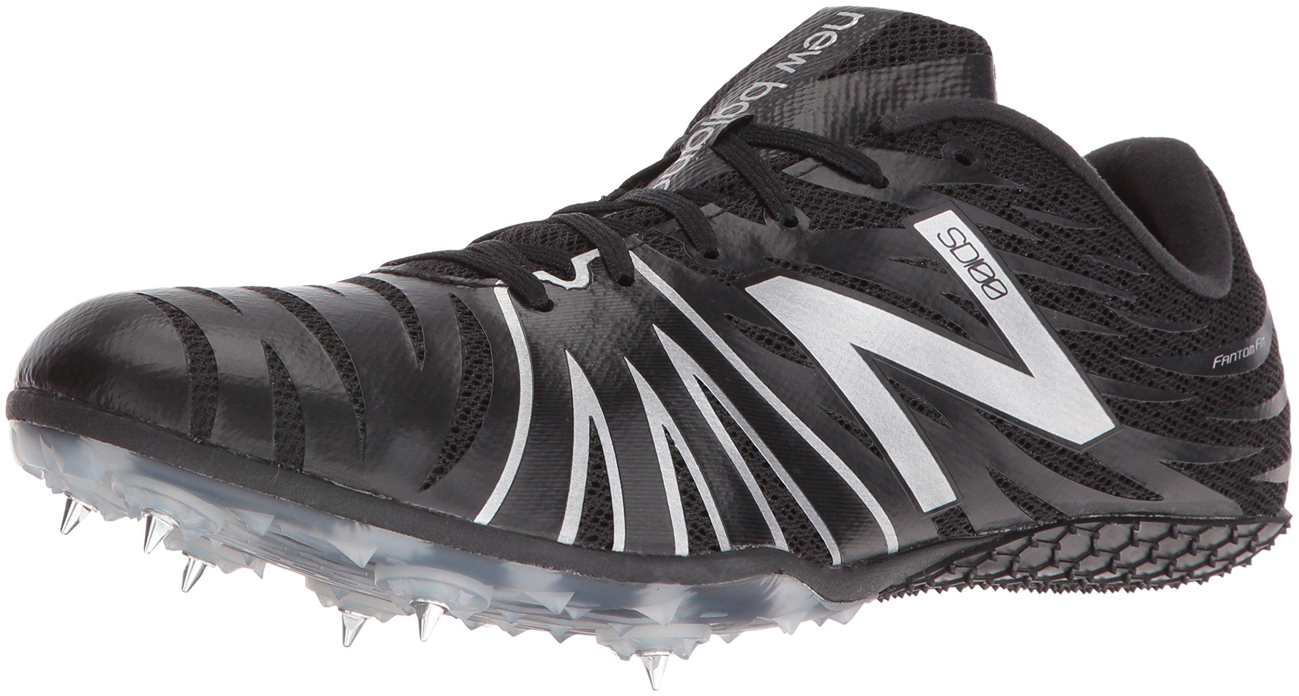 New Balance Men's USD100V1 Track Shoes, Black/Silver, 10 D US