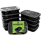 Meal Prep Food Containers -10 Pack(32 oz) - 3 Compartment with Lids - BPA Free, Stackable, Reusable and Leak Resistant food storage containe– Dishwasher, Microwave and Freezer Safe – by Utopia Kitchen