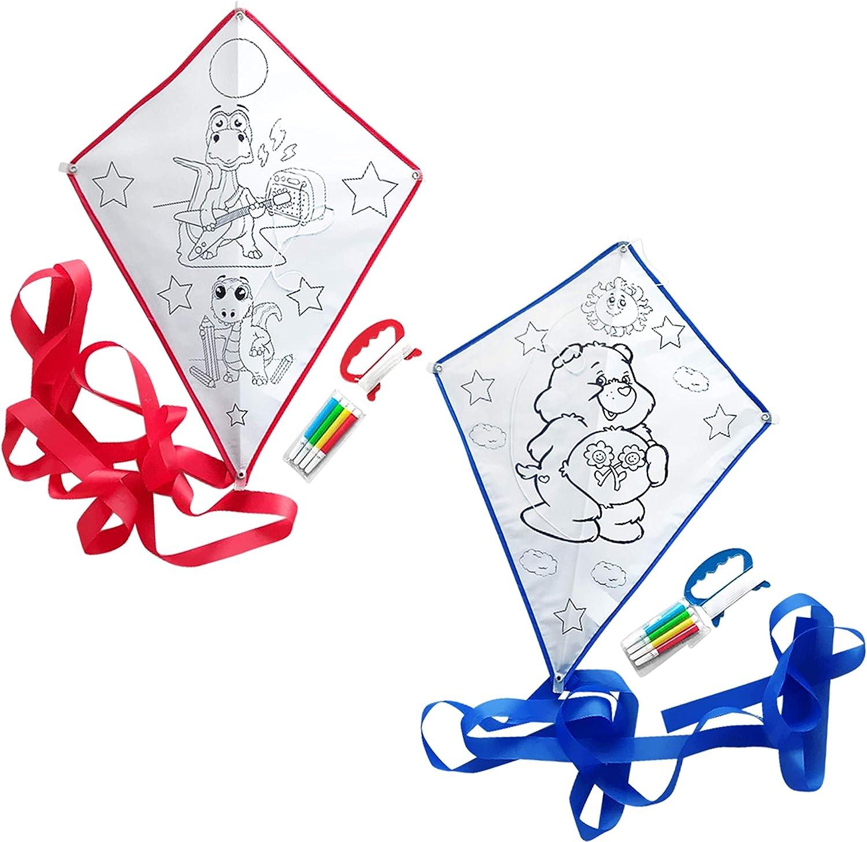 Bea's Party Set de 20 Cometas para niños Cometas para Pintar Cometas Infantiles para Colorear Detalles cumpleaños niños Boda Regalos comunion para Invitados Bautizo