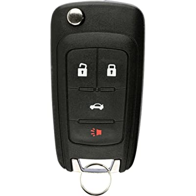 KeylessOption Keyless Entry Remote Control Car Uncut Flip Key Fob Replacement for OHT01060512: Automotive