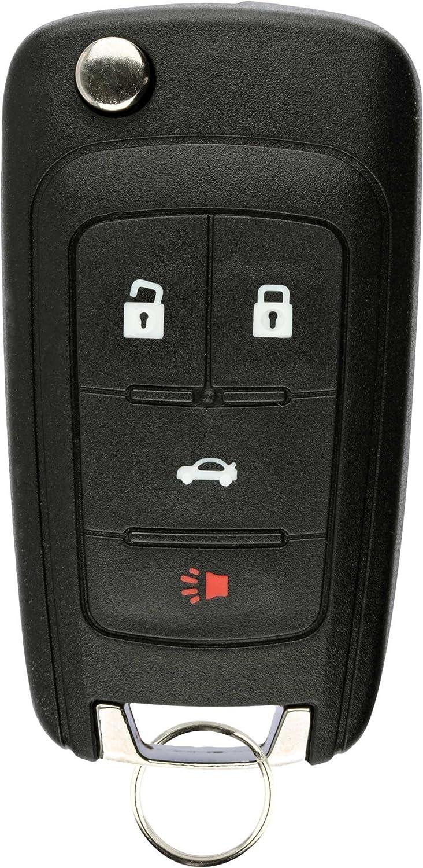 KeylessOption Keyless Entry Remote Control Car Uncut Flip Key Fob Replacement for OHT01060512