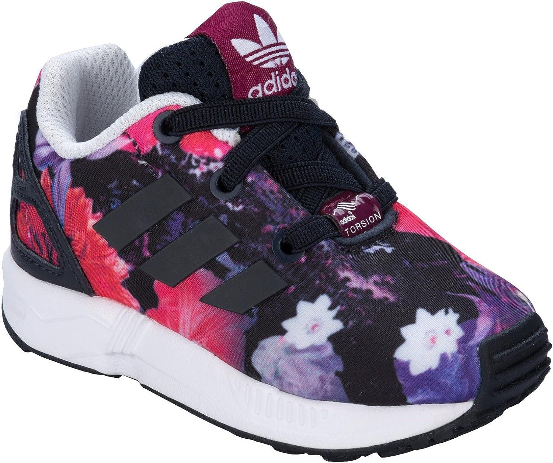 Baskets bébé adidas Originals ZX Flux El pour fille en rose