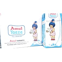 Amul Taaza UHT Milk, 1L (Pack of 12)