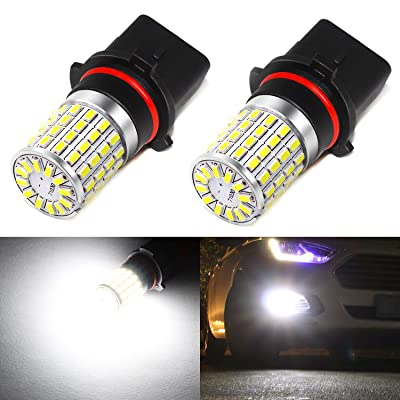 Phinlion 2000 Lumens Extremely Bright 3014 72-SMD Xenon White P13W 12277 SH23W LED Light Bulbs for 2010 2011 Camaro DRL Daytime Running Lights: Automotive